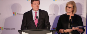 John Tory and Janet Kennedy