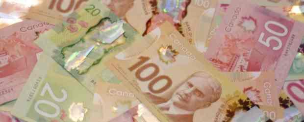 Canadian currency, money, dollar bills