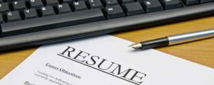 Image of a resume