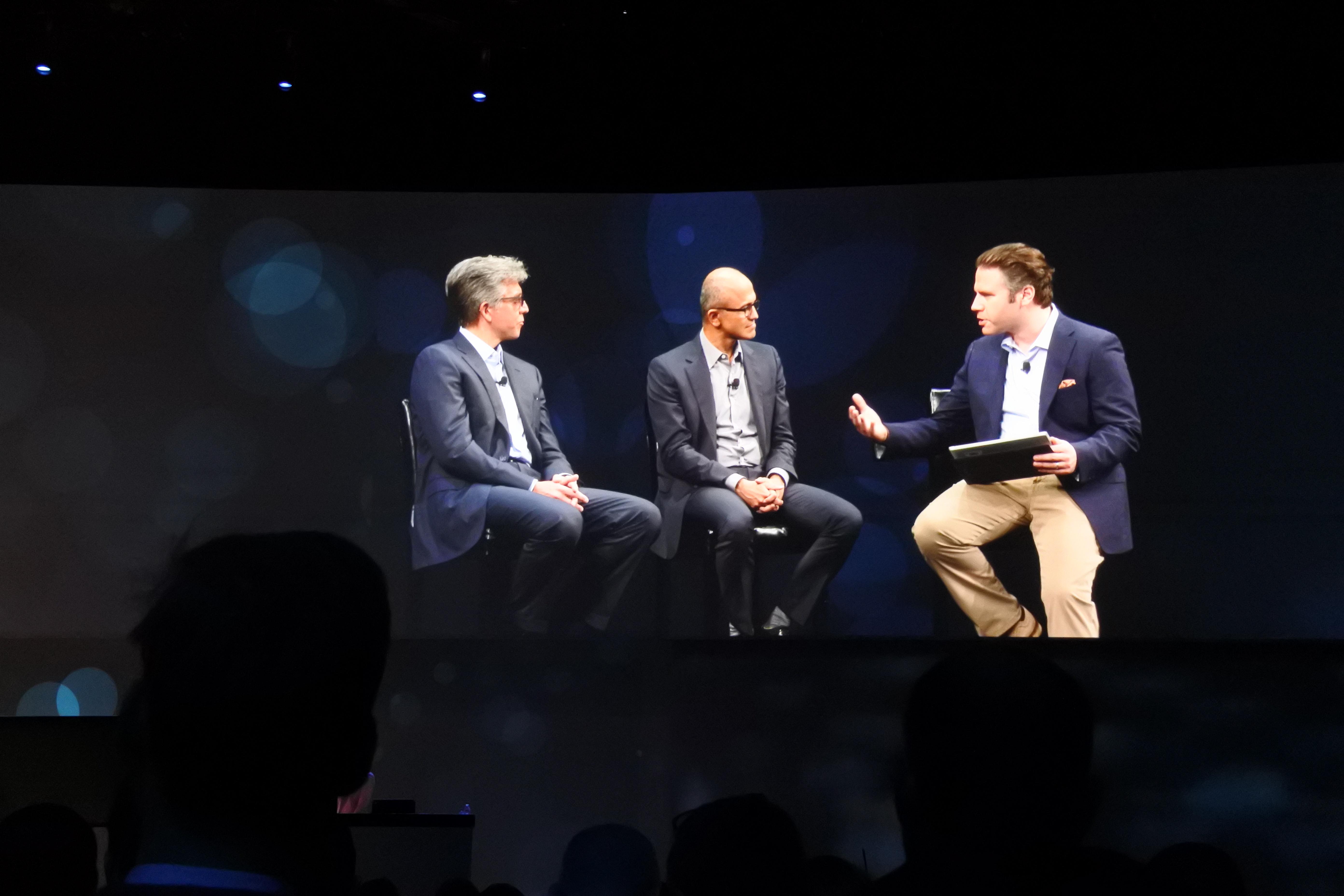 SAP CEO Bill McDermott & Microsoft CEO Satya Nadella at the 28th SapphireNow event in Orlando