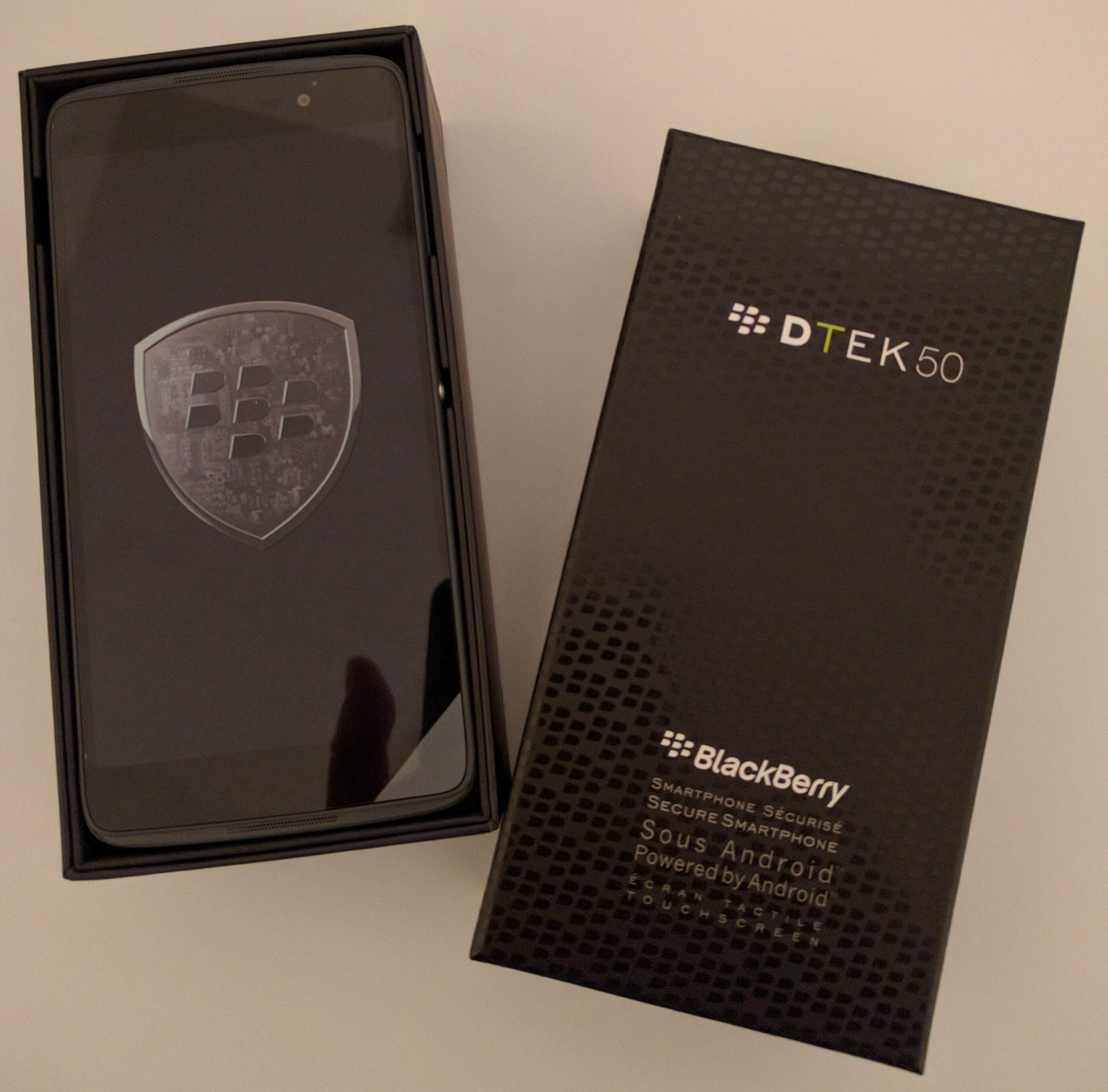 1. Unpacking the new BlackBerry DTEK 50