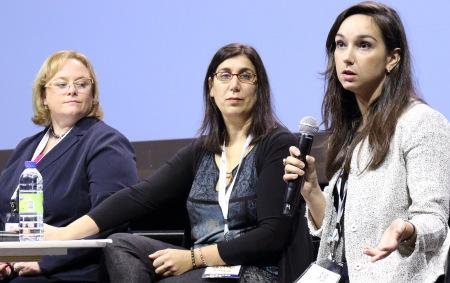 Andrea Stapley,left, Karen Nemani and Alexis Lavi. Photo by H. Solomon