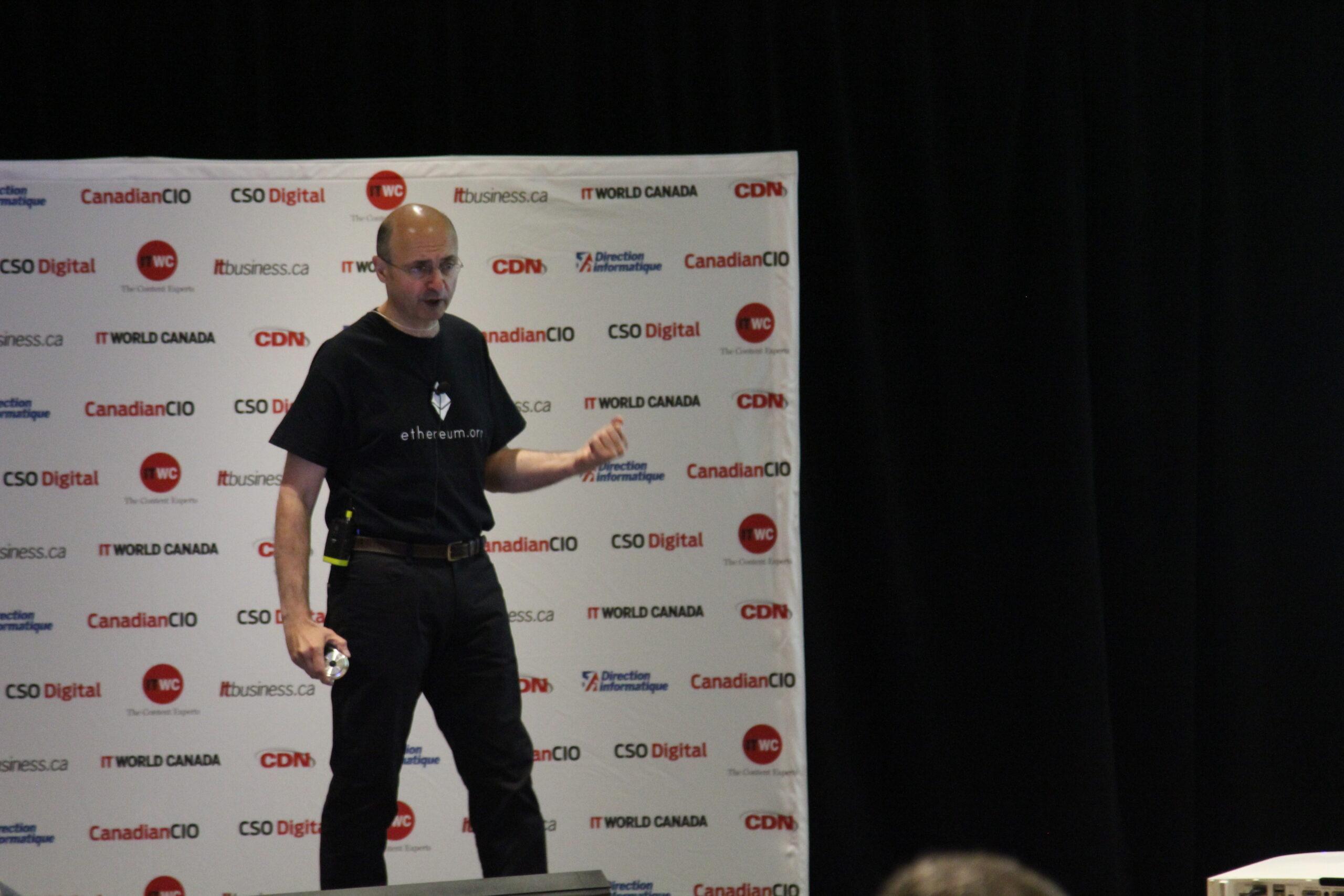 William Mougayar speaking at CIO Canadas CIO Summit 2016
