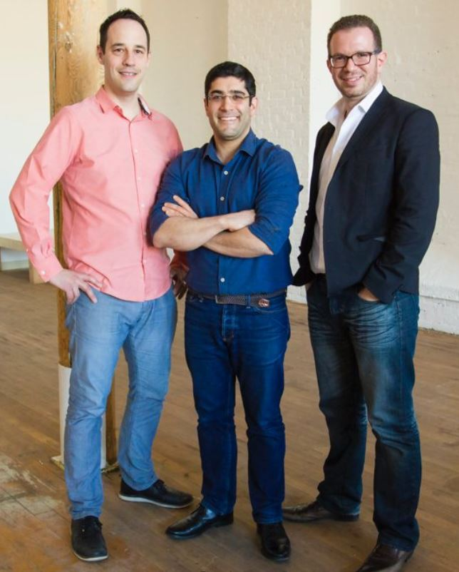 The trio of Thirdshelf founders.