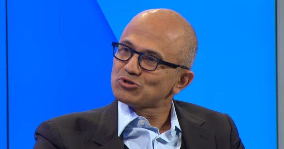 Microsoft CEO Satya Nadella at Davos