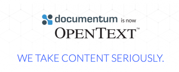 Documentum is now OpenText