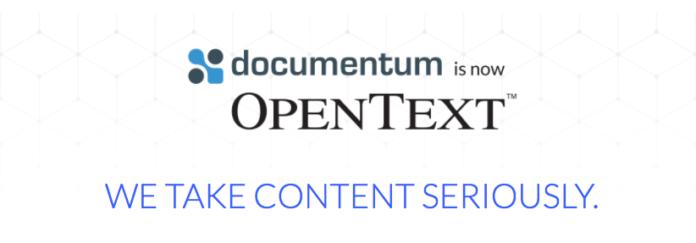 Documentum is now OpenText