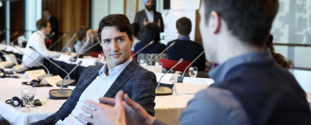 Prime Minister Justin Trudeau - youth meeting