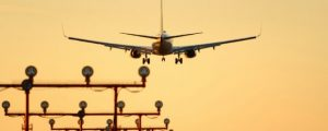 YVR Sunset Jet Landing, Vancouver