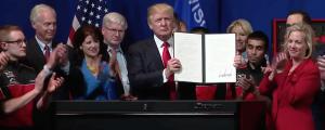 Donald Trump E.O. buy american hire american