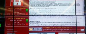 WCry decrypter on a computer screen (Source: El Mundo)