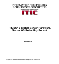 ITIC 2016 Global Server Hardware, Server OS Reliability Report