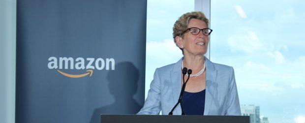 Ontario Premier Kathleen Wynne opens Amazon Toronto office