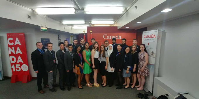Canada, Uganda and Cote D'Ivoire Delegation Groups at the Huawei Headquarters