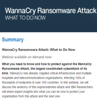 WannaCry Ransomware Attack: What to Do Now