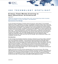 Primary Flash Market Evolving to Next-Generation Architectures