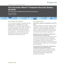 The Forrester Wave: Endpoint Security Suites, Q4 2016