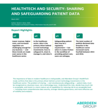 HealthTech and Security: Sharing and Safeguarding Patient Data