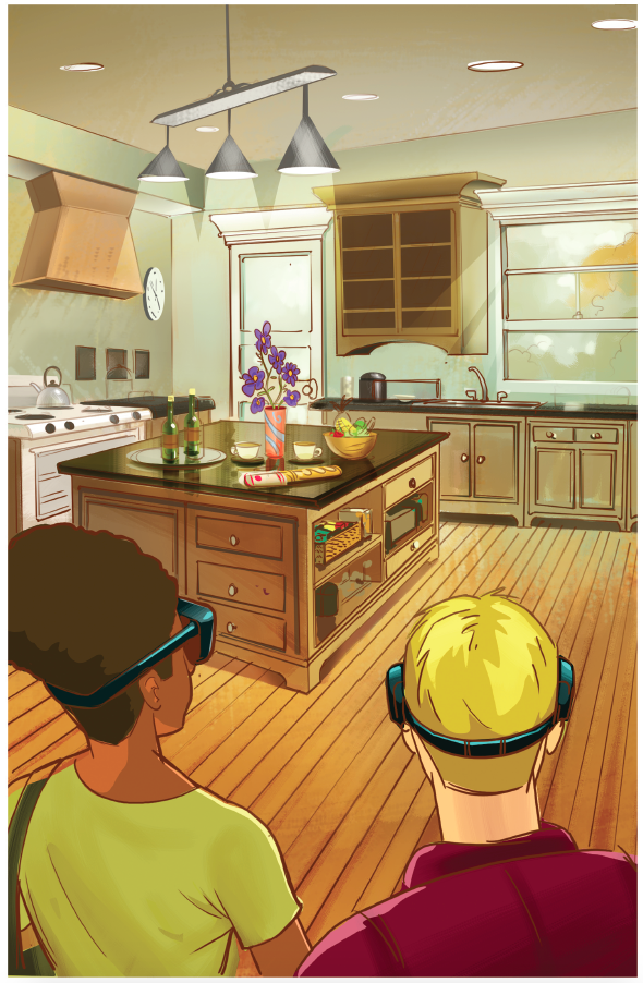 Lowe's Holoroom - Comic book concept kitchen