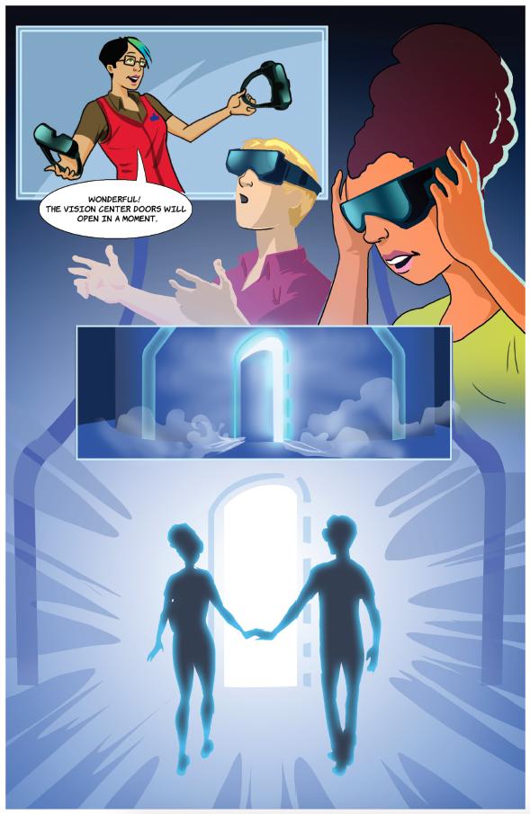 Lowe's Holoroom - Comic book concept entrance