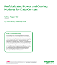 Prefabricated Power and Cooling Modules for Data Centers
