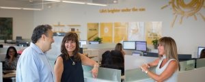 """Designed with a """"Client-first"""" focus, reflecting the Sun Life brand throughout the building. (CNW Group/Sun Life Financial Inc.)"""