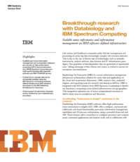 Breakthrough research with Databiology and IBM Spectrum Computing