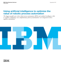 Using artificial intelligence to optimize the value of robotic process automation