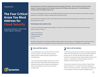 The Four Critical Areas You Must Address for Cloud Security