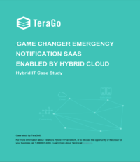Game changer emergency notification SaaS enabled by hybrid cloud