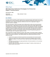 IBM Optimizes Multicloud Strategies for Enterprise Digital Transformation