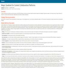 Magic Quadrant for Content Collaboration Platforms