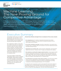 Report - Machine Learning: The New Proving Ground for Competitive Advantage