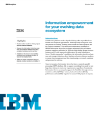 Information empowerment for your evolving data ecosystem