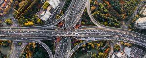 highway traffic cars interchange