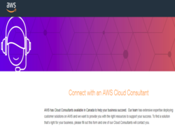 Connect with an AWS Cloud Consultant