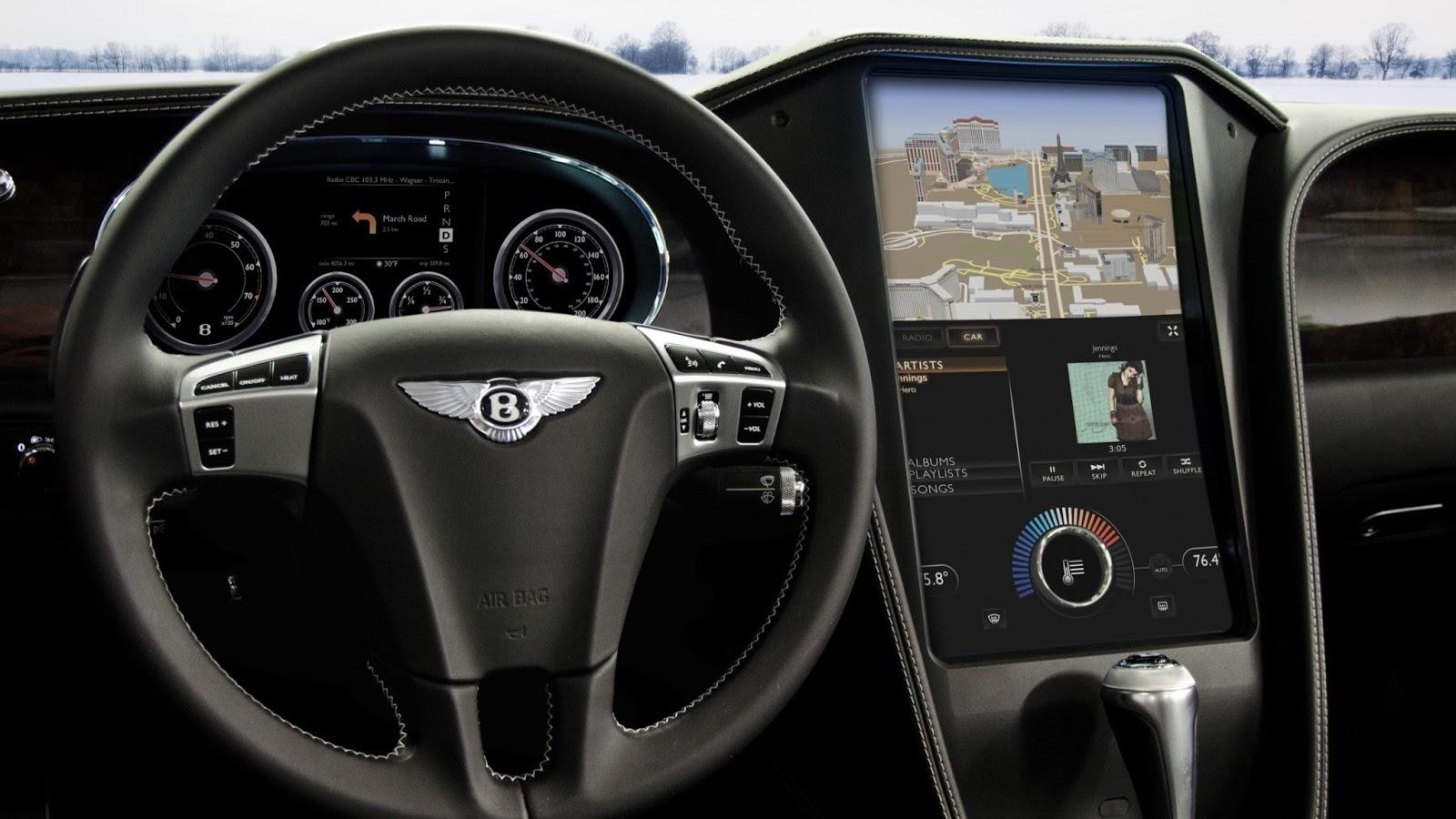DENSO / BlackBerry HMI cockpit