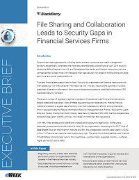 File Sharing and Collaboration Leads to Security Gaps in Financial Services Firms