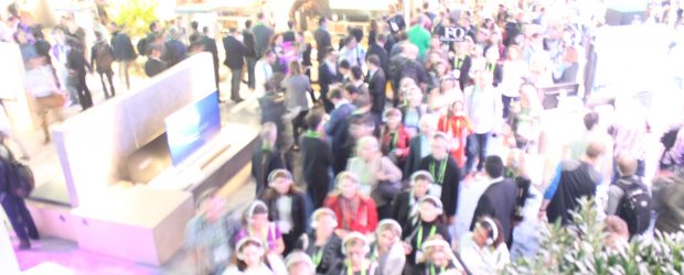 Crowd of visitors at CES 2018