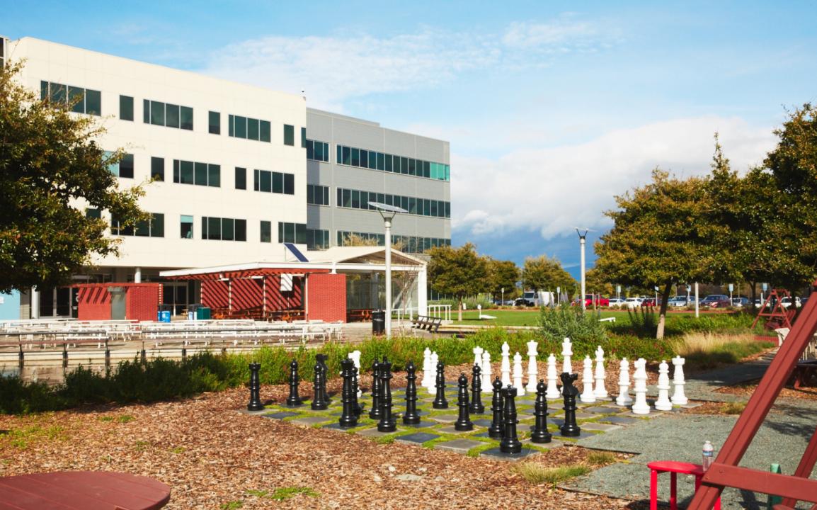 chess board at Google HQ