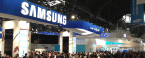 Samsung booth Mobile World Congress