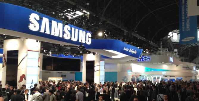 Samsung booth Mobile World Congress