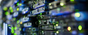 server racks in data centre