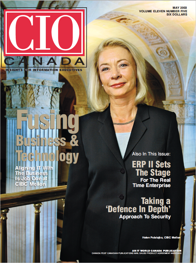 CIO cover May 2003 - Helen Polatajko