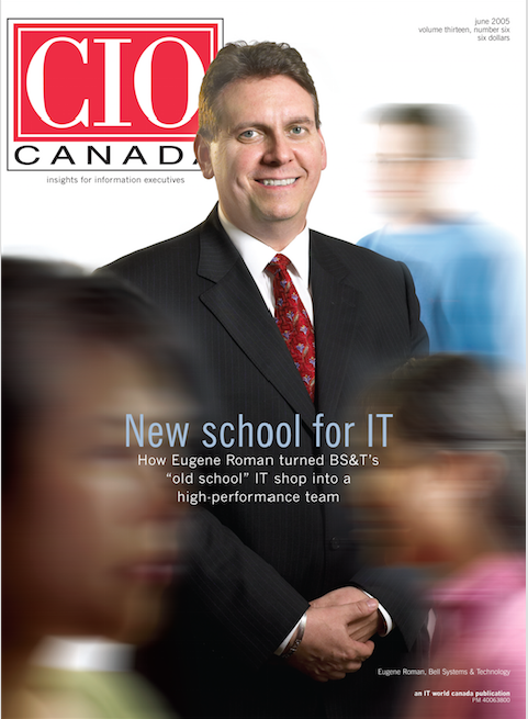 June 2005 CIO Canada cover - Eugene Roman