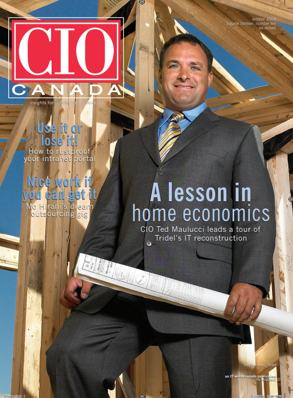 CIO Canada cover October 2005 - Ted Maulucci