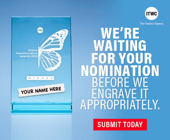Digital Transformation Awards - engraved nomination