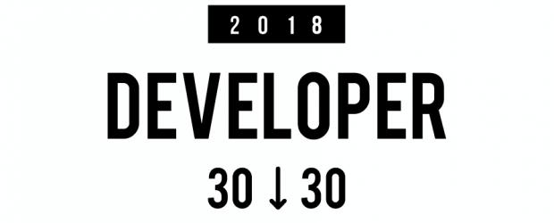 Developer 30 under 30 - banner