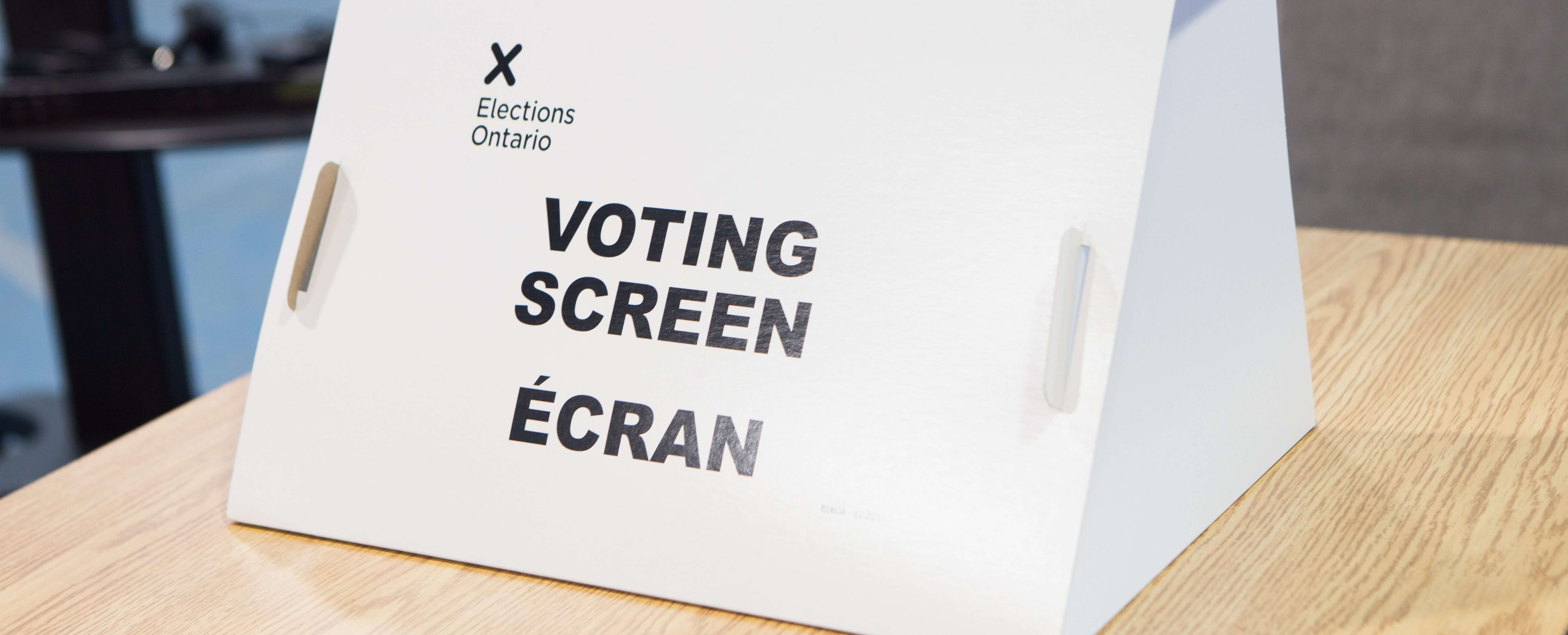 Voting screen Ontario election