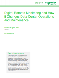 Digital Remote Monitoring and How it Changes Data Center Operations and Maintenance